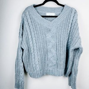 Boutique Nectar Clothing Gray Knit Sweater Medium